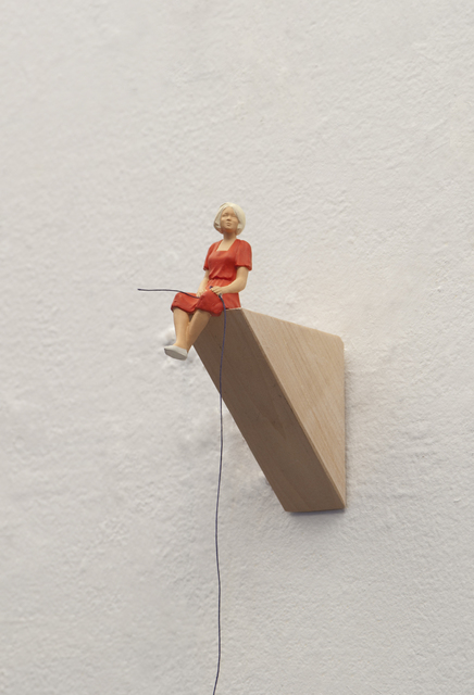 , 'To Hold a String (lady in red),' 2019, Carrie Secrist Gallery