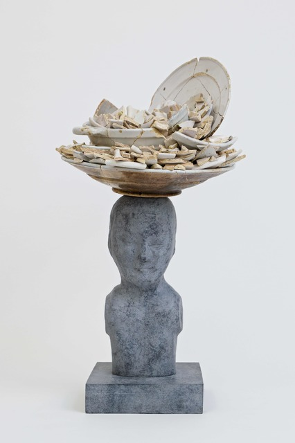 , 'Bronze bust with white delft ceramic trash,' 2018, Galerie Ron Mandos