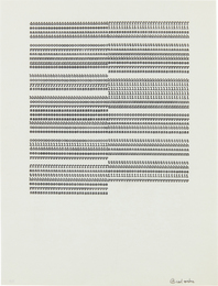 Carl Andre, 'ddddddddddddddddfffffffffffffffffffffffff,' ca. 1958-1963, Phillips: 20th Century and Contemporary Art Day Sale (November 2016)