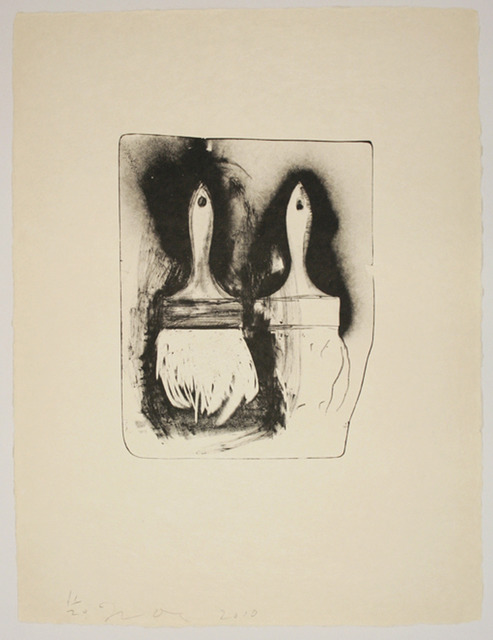 Jim Dine, 'Brushes Drawn on Stone #3', 2010, Tamarind Institute