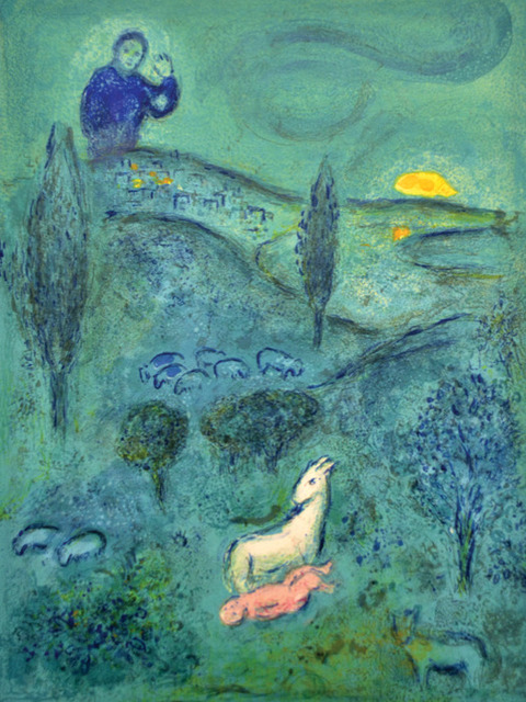 Marc Chagall, 'Lamon Discovers Daphnis', 1961, Print, Original lithograph printed in colors on Arches wove paper., Galerie d'Orsay