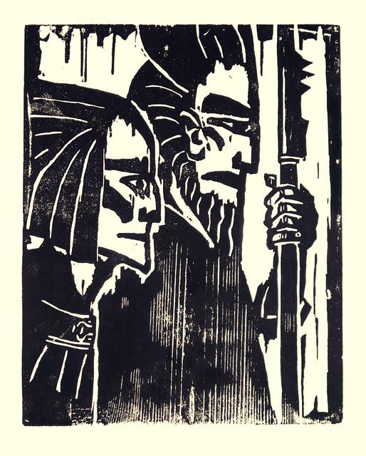 , ' Ziehende Krieger,' 1917, Henze & Ketterer