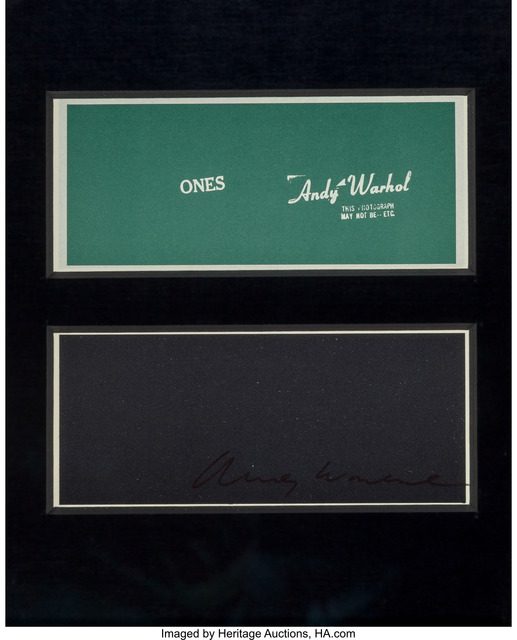 Andy Warhol, 'Warhol Ones (Four Bills)', 1971, Heritage Auctions