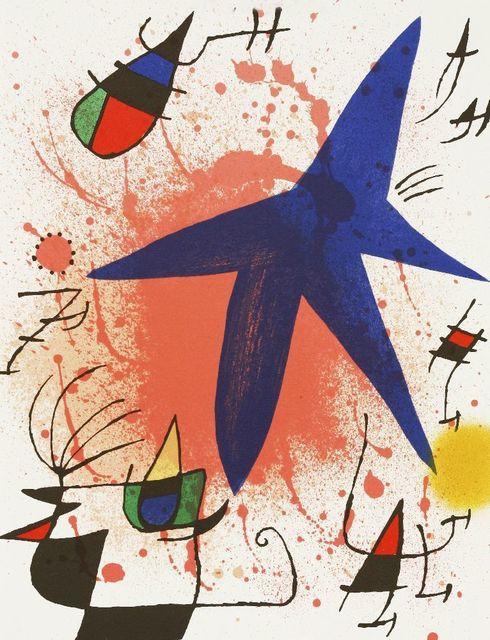 Joan Miró, 'L'ASTRE BLEU; LE SOLEIL ROUGE; LA LUNE VERTE (MOURLOT 857, 859, 861)', 1972, Sworders