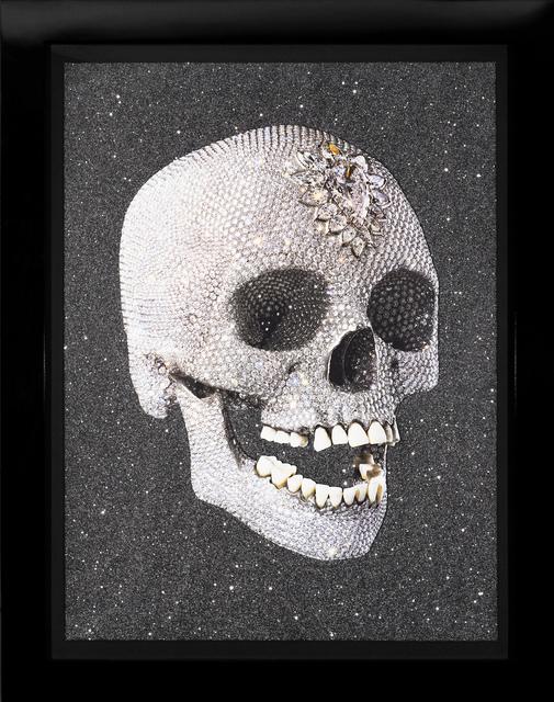 Damien Hirst, ''For The Love of God, Laugh' Skull with Diamond Dust', 2007, Mixed Media, Silkscreen, Diamond Dust, Arton Contemporary