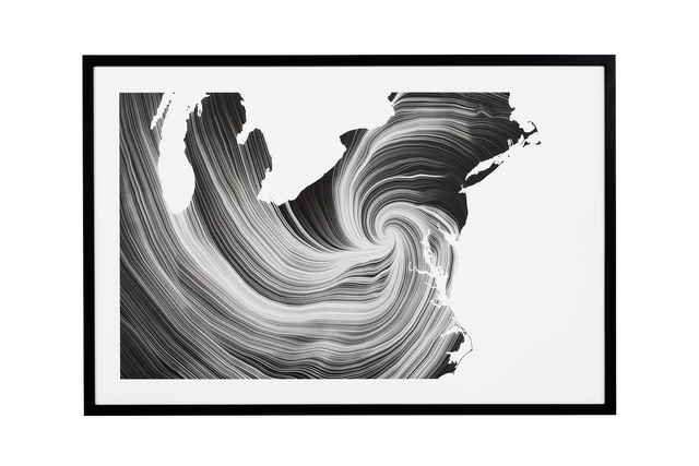 ", 'Nº15 ""Wind Map, Sandy Up Close"",' 2015, Chamber"