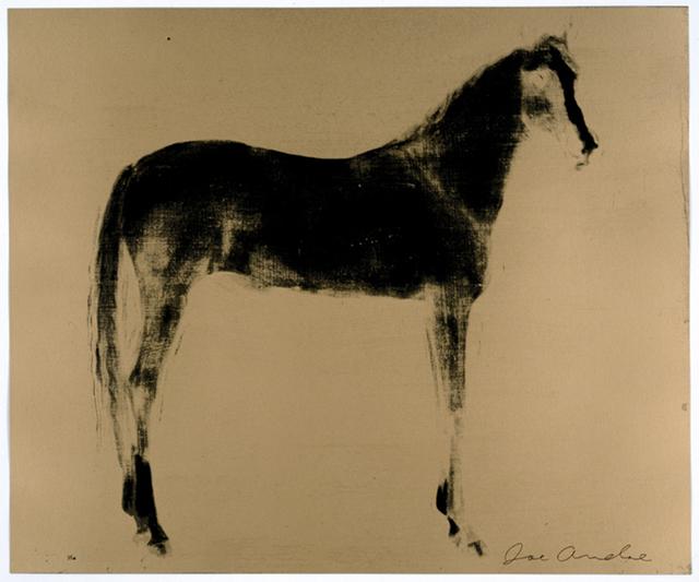 Joe Andoe, 'Horse x 12 ( Gold Reversal )', 1995, Chelsea Art Group