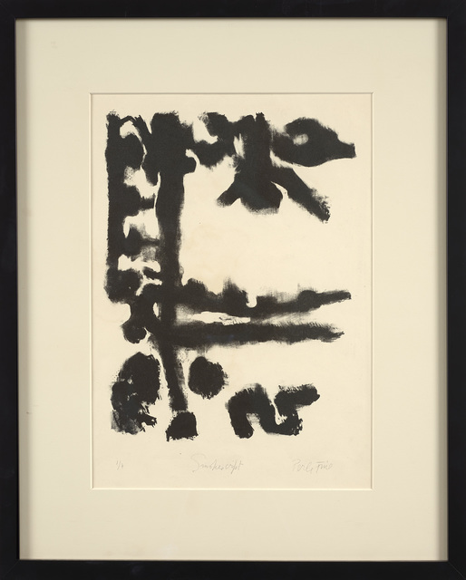 Perle Fine, 'Smokescript', 1950, Print, Lithograph on woven paper, Berry Campbell Gallery