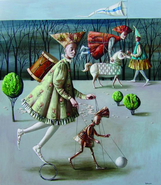 "Vahram Davtian, '""The Illusionists"" / ""Hokkabazlar""', 2014, Galeri 77"