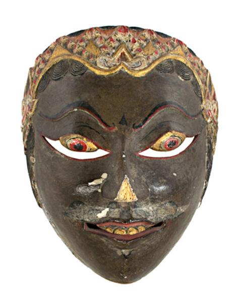 , 'Mask, black face,' 19th c., David Barnett Gallery