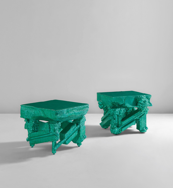"""Chris Schanck, 'Unique pair of tables, from the """"Alufoil"""" series', 2014, Phillips"""