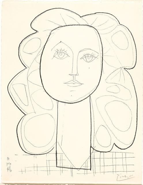 Pablo Picasso, 'Françoise', 1946, Print, Lithograph, Koller Auctions