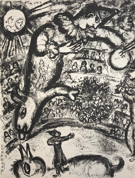 Marc Chagall, 'Le Cirque M. 526', 1967, Print, Original Lithograph on Velin d'Arches Wove Paper, Galerie d'Orsay