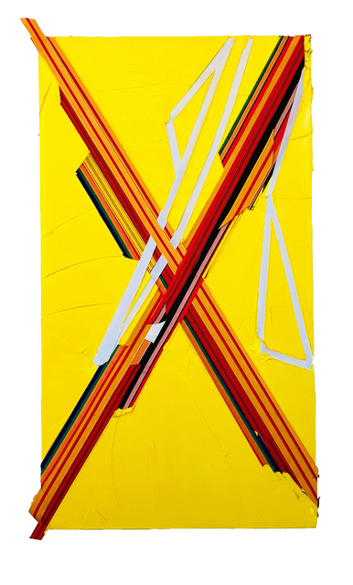 , 'yellow X,' 2018, Contemporary by Angela Li