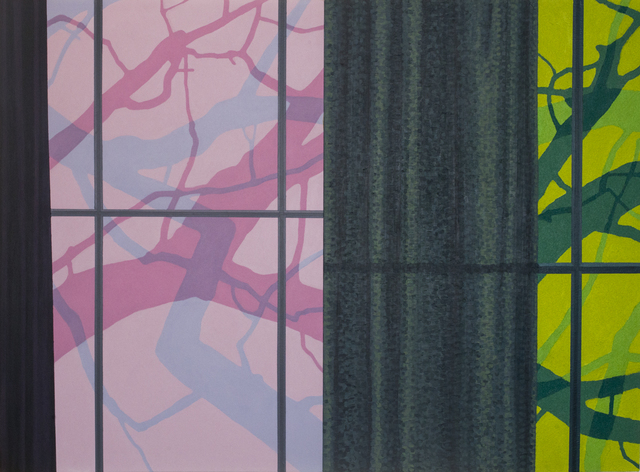 , 'Windows and Curtains (Pink & Green),' 2016, Eckert Fine Art