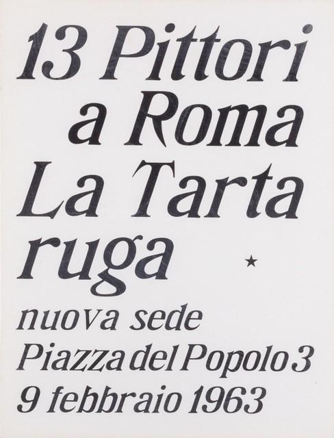 'Inaugural exhibition, 1963', Finarte