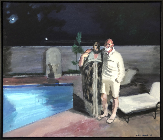 , 'Moonstruck eternal lovers by pool,' 2019, 99 Loop Gallery