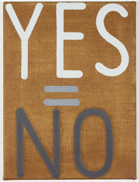 , 'yes=no #16,' 2008, Mixer