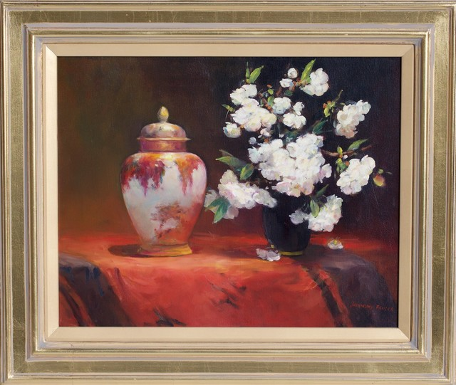 , ' 'Lidded Satsuma Jar with Blossoms' ,' 2014, Wentworth Galleries