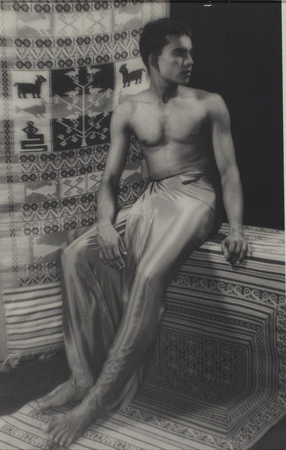 Lionel Wendt, 'Untitled (Man with traditional mat)', ca. 1935, Jhaveri Contemporary