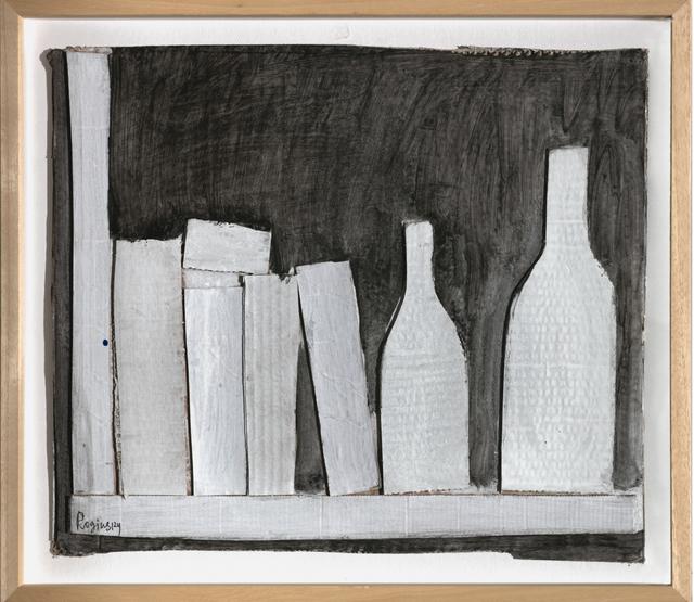 , 'White modeled bottles on a black background,' 1978, Art4.ru