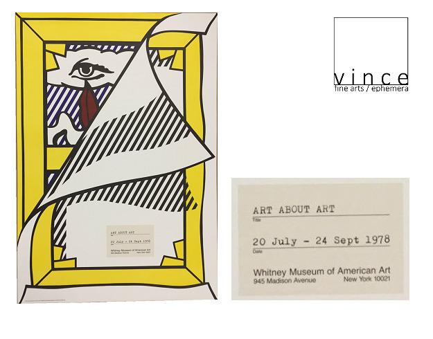 """Roy Lichtenstein, '""""Art About Art"""", 1978, Whitney Museum Exhibition Poster, RARE', 1978, VINCE fine arts/ephemera"""