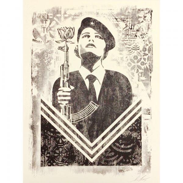 Shepard Fairey, 'Damaged Peace Guard', 2019, AYNAC Gallery
