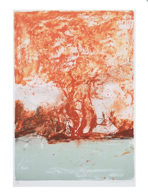 Zao Wou-Ki 趙無極, '無題 Untitled', 1998, Print, Lithograph, Tinny Art House
