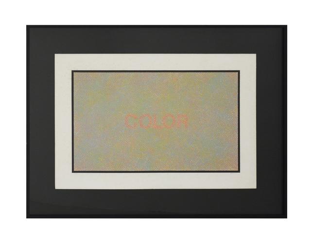 , 'Color,' 1975, Galeria Houssein Jarouche