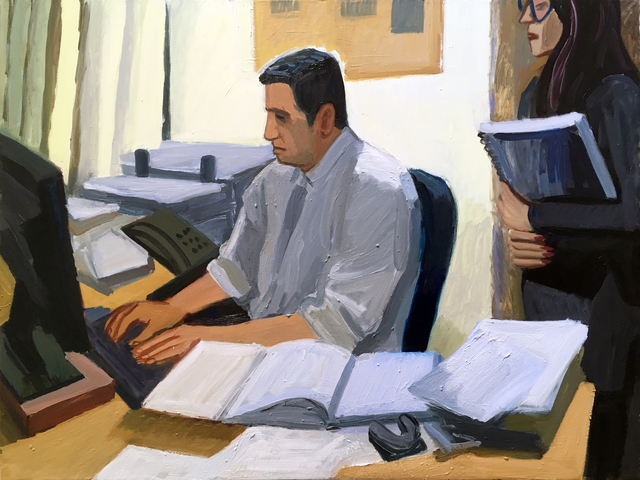 , 'Lawyer at Work,' 2018, Rosenfeld Gallery