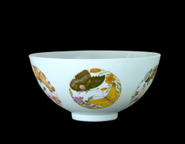 'Bowl with Butterflies in Roundels Design', 1723-1735, Indianapolis Museum of Art at Newfields