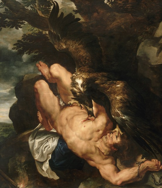 Peter Paul Rubens, 'Prometheus Bound', 1618, Philadelphia Museum of Art