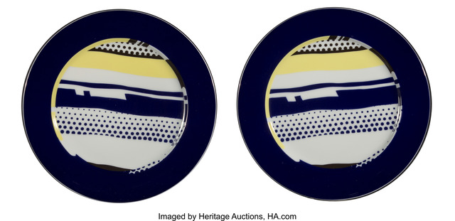 Roy Lichtenstein, 'Untitled. set of two plates', c. 1990, Heritage Auctions