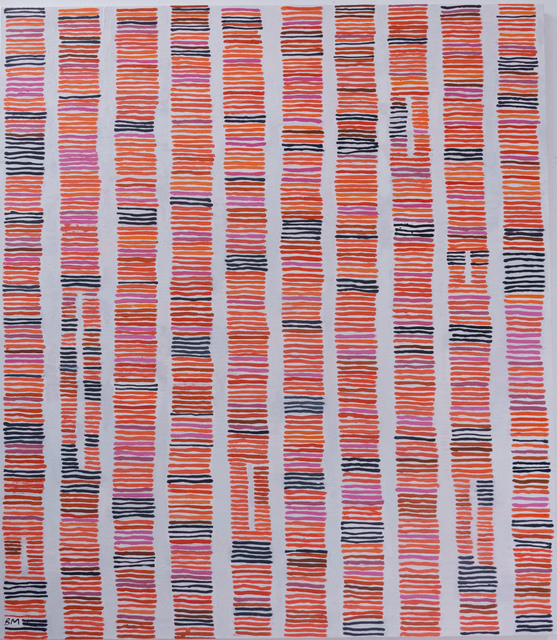 Barbara Macfarlane, 'Street Lines Burnt Sienna, Orange Magenta', 2019, Rebecca Hossack Art Gallery