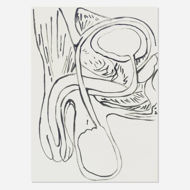 Andy Warhol, 'Physiological Diagram', 1985-86, Drawing, Collage or other Work on Paper, Synthetic polymer paint on HMP paper, Artsy x Rago/Wright