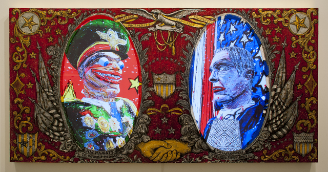 , 'His Majesty the Emperor of The World/ The Last President of United States of America,' 2013, Postmasters Gallery