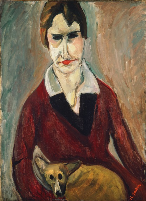 Chaim Soutine, 'Woman with a Dog', 1917-1918, ARS/Art Resource
