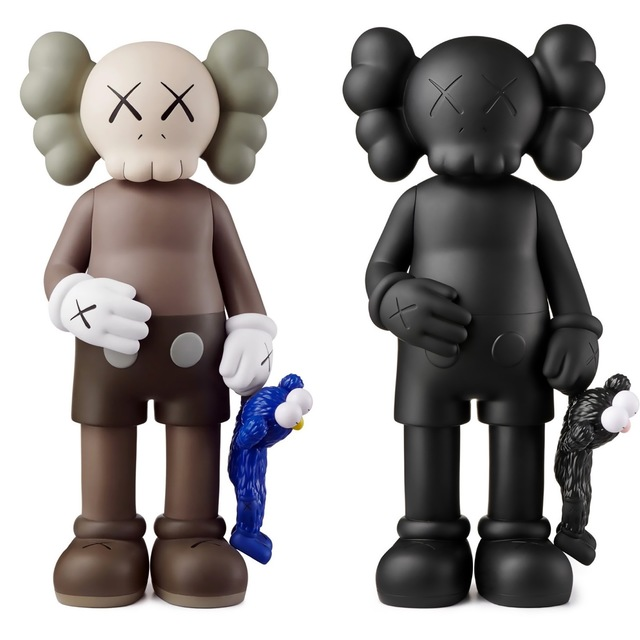KAWS, 'KAWS SHARE Set of 2 (KAWS share companion black & brown)', 2020, Sculpture, Painted Vinyl Cast Resin, Lot 180