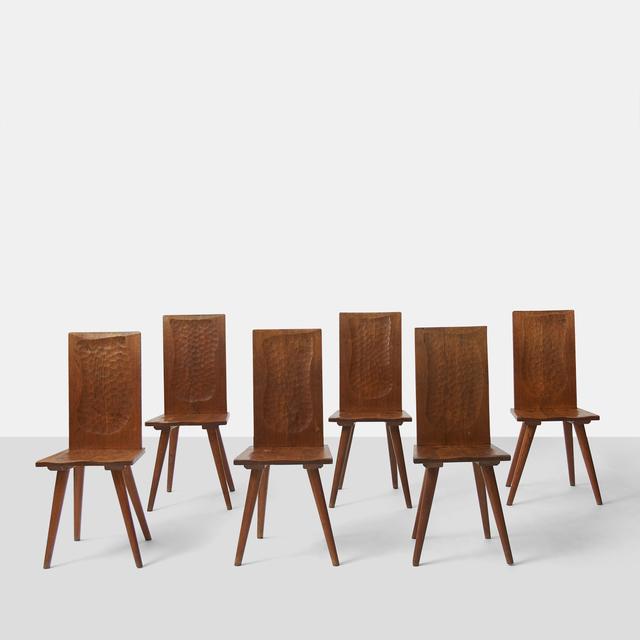 Jean Touret, 'Jean Touret Wood Back Chairs for Atelier Marolles', 1950-1959, Almond & Co.