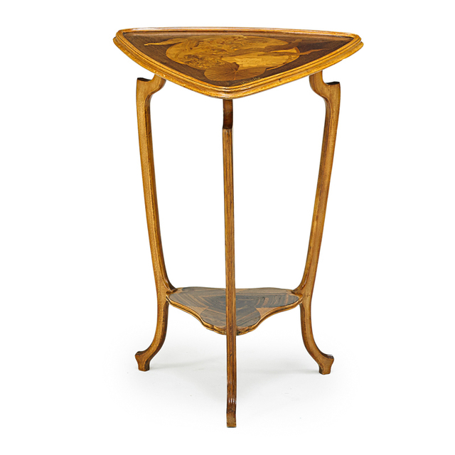 Louis Majorelle, 'Art Nouveau Table With Lotuses, France', ca. 1900, Design/Decorative Art, Stained Beech, Rosewood, Mixed Wood Marquetry, Rago/Wright