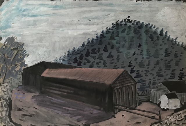 Milton Avery, 'Untitled (Long Barn)', ca. 1937, Yares Art