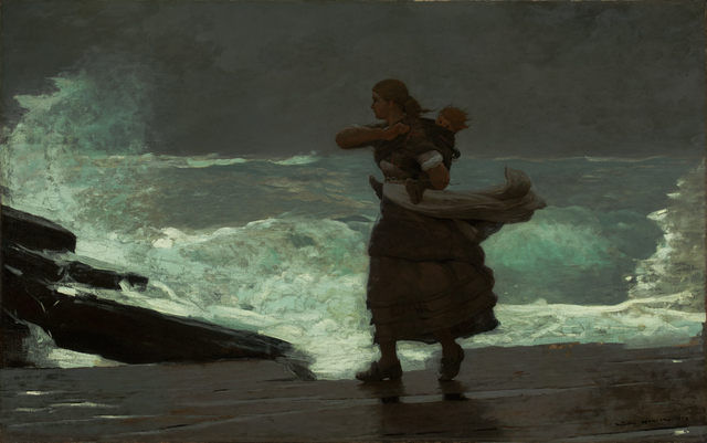 , 'The Gale ,' 1883-1893, Milwaukee Art Museum