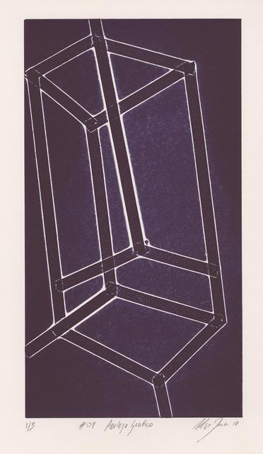 , 'Azulejo grafico #01,' 2018, Buchmann Galerie Lugano