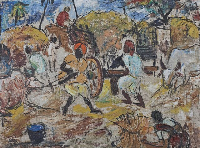 , 'Untitled,' 1950, Sanchit Art