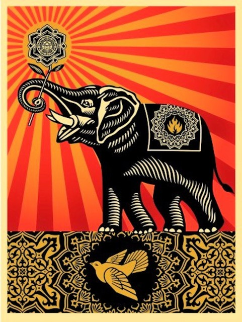 Shepard Fairey (OBEY), 'Peace Elephant', 2011, michael lisi / contemporary art