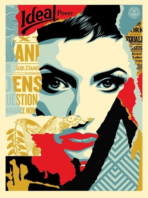 Shepard Fairey, 'Ideal power', 2017, Rudolf Budja Gallery