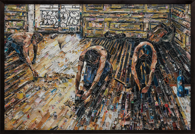 Vik Muniz, 'Floor Scrapers, after Gustave Caillebotte from Pictures of Magazines 2', Phillips