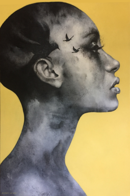 Pascale Pratte, 'Black Burds on Yellow', 2019, Galerie Blanche