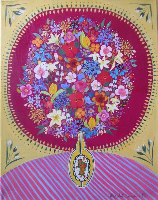 , 'Flowers in an Art Deco Vase,' 2015, Rebecca Hossack Art Gallery