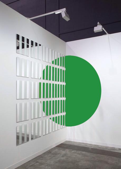 , 'Le 1/2 cercle doublé mais, Rayé,' 2016, Galleria Massimo Minini